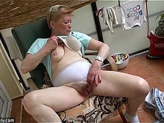 Older woman and young girl with double dildo